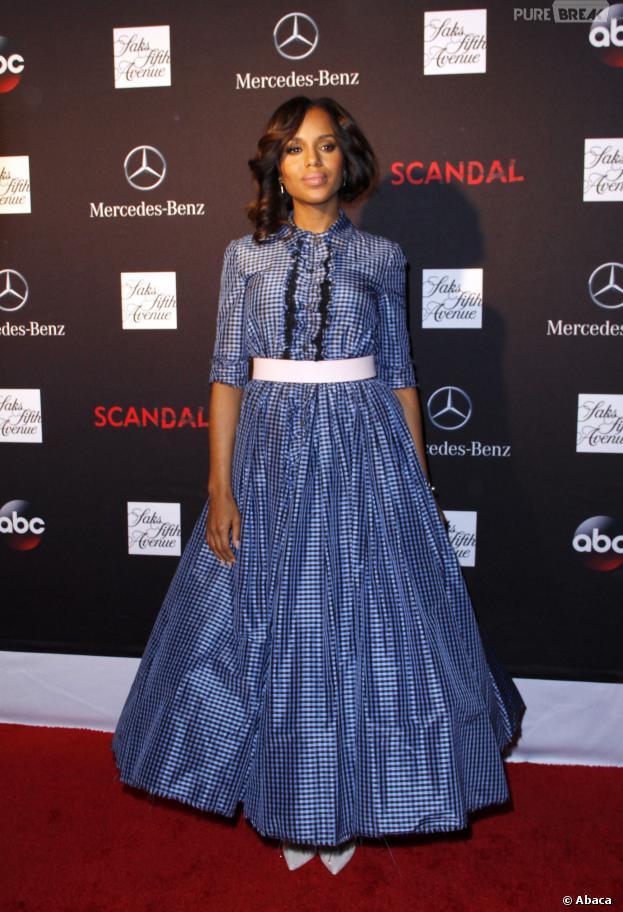 Kerry Washington : son fashion faux-pas à la soirée de lancement de la saison 3 de Scandal le 2 octobre 2013 à New York