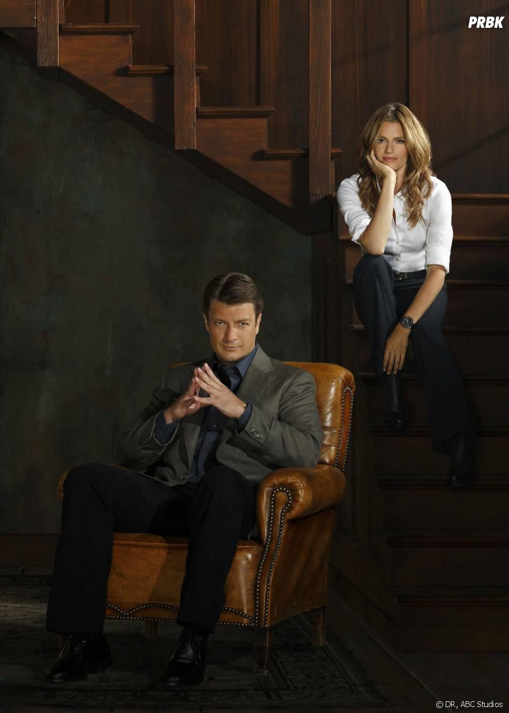 Castle saison 6 : photo promo avecNathan Fillion et Stana Katic