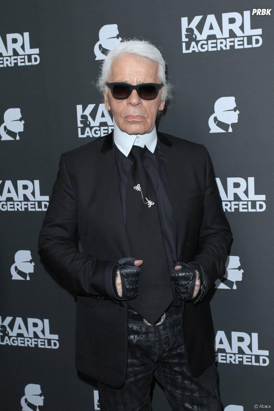 Karl Lagerfeld toujours en uniforme noir et blanc