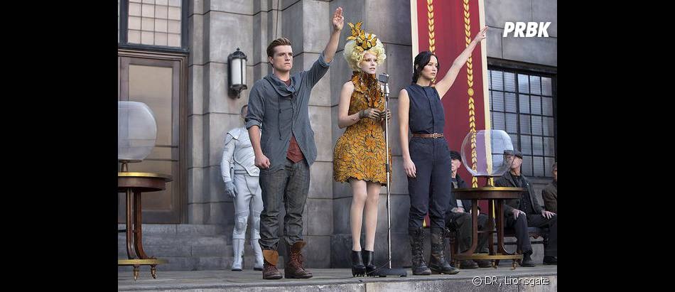 Hunger Games 2 : Katniss, Peeta et Effie sur une photo