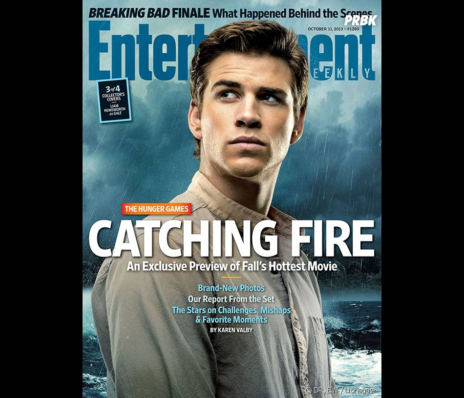 Hunger Games 2 : Liam Hemsworth en Une de Entertainment Weekly