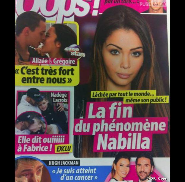 Nadège Lacroix et Fabrice, en couple en Une du magazine Oops du 29 novembre 2013