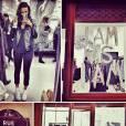 Shy'm a présenté sa première collection de vêtements à Paris mercredi 4 décembre 2013