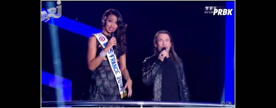 Flora Coquerel : Miss France 2014 sur la scène des NMA 2014, le 14 décembre 2013 à Cannes