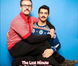 Les Jonas Borther sur leur carte de voeux pour Noël 2013