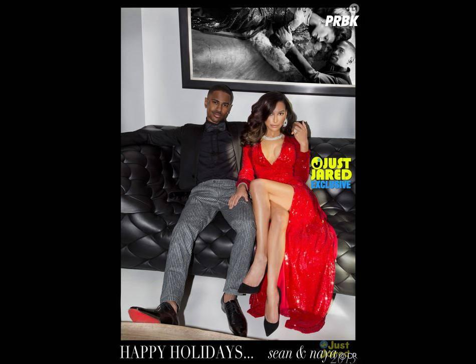 Naya Rivera et Big Sean : leur carte de voeux pour Noël 2013 en exclu sur JustJared