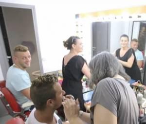 Les Ch'tis font leur tour de France : les candidats en séance de maquillage