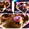 """Mila Kunis et Ashton Kutcher : baiser fougueux et délirant lors de la """"Kiss Cam"""""""