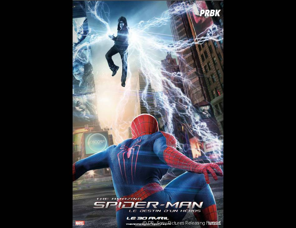 The Amazing Spider-Man 2 : Peter Parker face à Electro sur une affiche