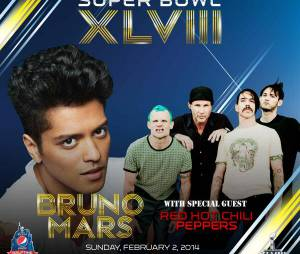 Bruno Mars et Red Hot Chili Peppers à l'affiche du Super Bowl 2014