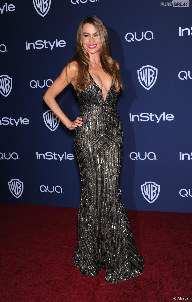 Sofia Vergaraà l'after party InStyle/Warner Bros des Golden Globes 2014, le 12 janvier 2014 à Los Angeles