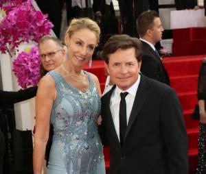 Michael J. Fox et sa femme Tracy Pollan sur le tapis rouge des Golden Globes 2014, le 12 janvier 2014 à Los Angeles