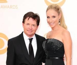 Michael J. Fox et sa femme Tracy Pollan sur le tapis rouge des Emmy Awards 2013