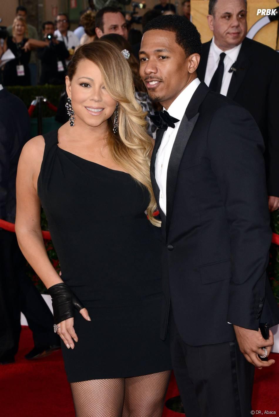 SAG Awards 2014 : Mariah Carey et son mari Nick Cannon à Los Angeles le samedi 18 janvier