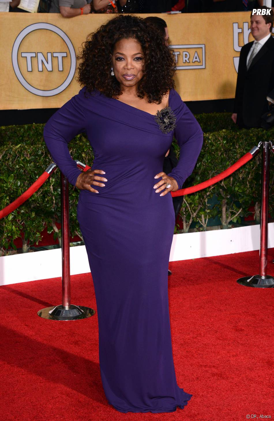 SAG Awards 2014 : Oprah Winfrey à Los Angeles le samedi 18 janvier