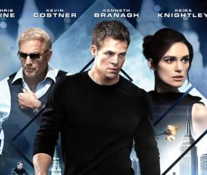 Chris Pine, Kevin Costner et Keira Knightley dans The Ryan Initiative, le 29 janvier 2014 au cinéma