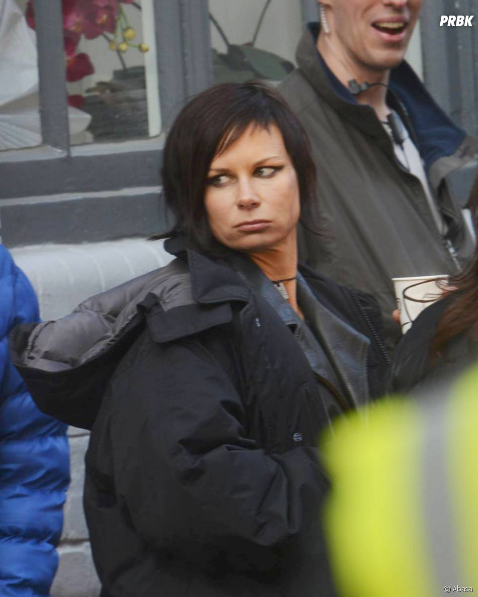 24 heures chrono saison 9 : Mary Lynn Rajskub aka Chloé sur le tournage, le 22 janvier 2014 à Londres