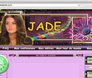 La faux site de Jade (La belle et ses princes 3) créé par Gonzague pour sa nouvelle caméra cachée