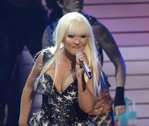 """Christina Aguilera en """"formes"""" aux AMA 2012"""