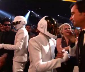 Daft Punk pendant la cérémonie des Grammy Awards 2014