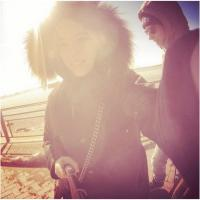 Alizée et Grégoire Lyonnet : selfie et figure de danse à New York