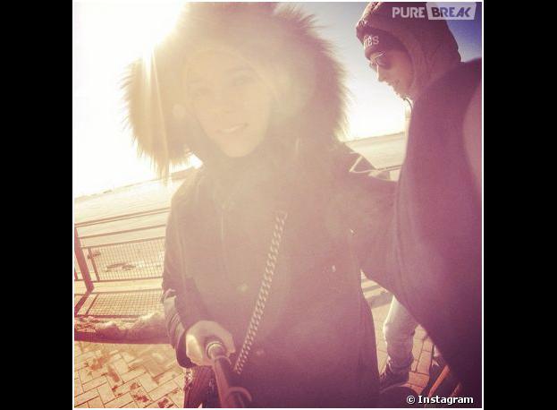 Alizée et Grégoire Lyonnet : selfie à New York, le 1er mars 2014 sur Instagram