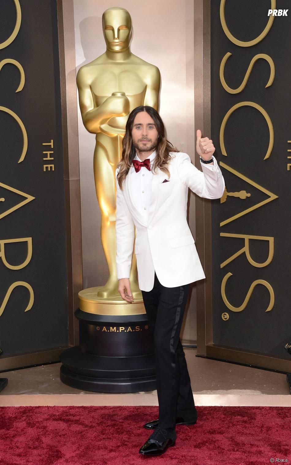 Jared Leto sur le tapis-rouge des Oscars le 2 mars 2014