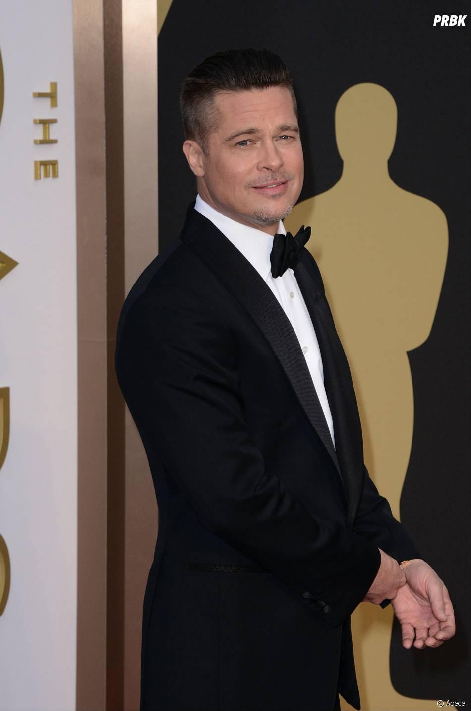 Brad Pitt sur le tapis-rouge des Oscars le 2 mars 2014
