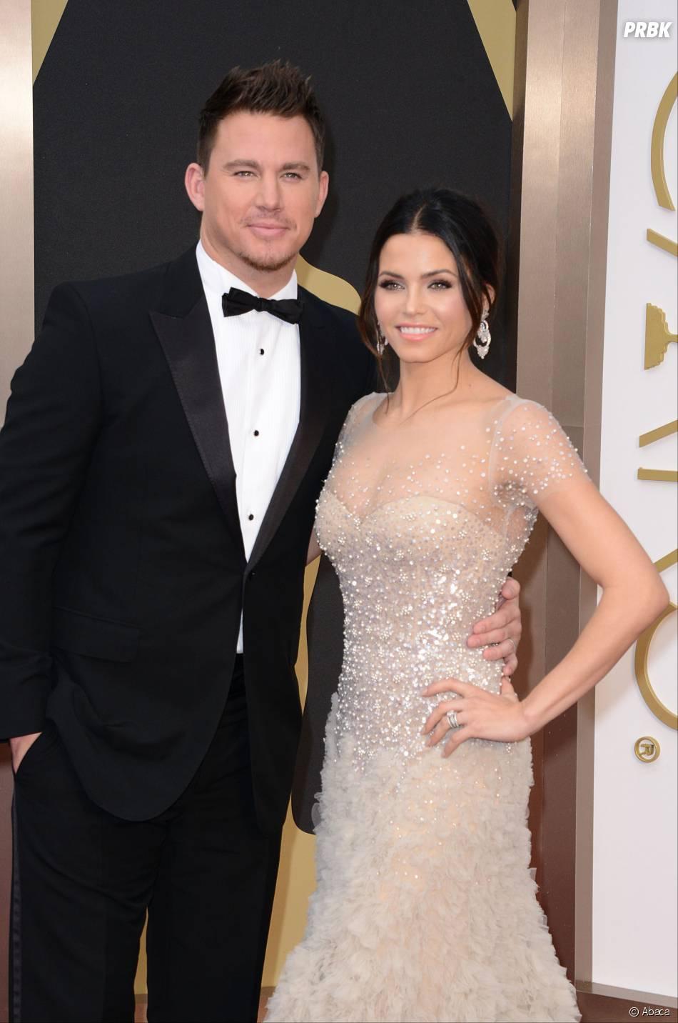 Channing Tatum et Jenna Dewan Tatum sur le tapis-rouge des Oscars le 2 mars 2014