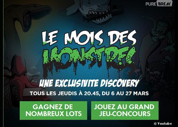 Discovery Channel : des cadeaux à gagner durant le mois des monstres