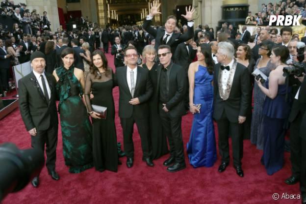 Benedict Cumberbatch et U2 sur le tapis rouge des Oscars 2014