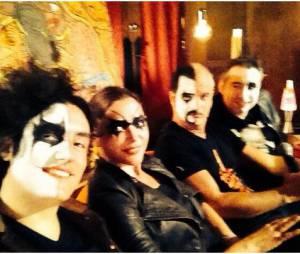 Sandrine Quétier en mode rockeuse avec son groupe The Jokers