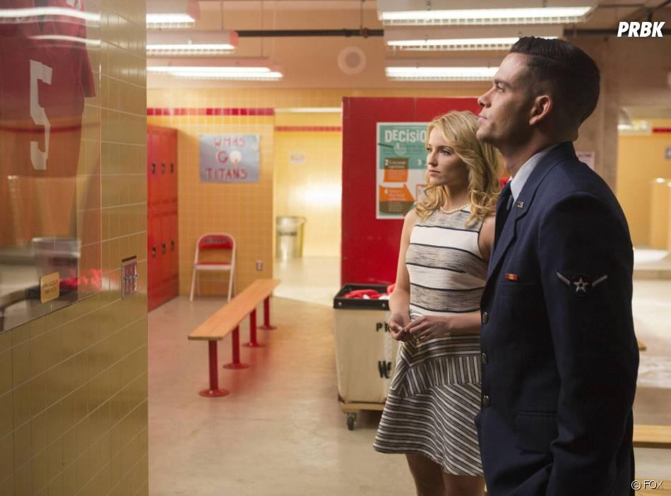 Glee saison 5 : Quinn (Dianna Agron) et Puck (Mark Salling) dans l'épisode 100