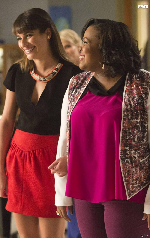 """Glee saison 5 : Lea Michele et Amber Riley """"s'affrontent"""" dans l'épisode 100"""