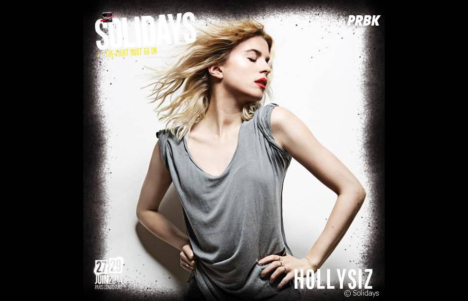 HollySiz à l'affiche des Solidays 2014 les 27,28 et 29 juin 2014 à l'Hippodrome de Longchamp