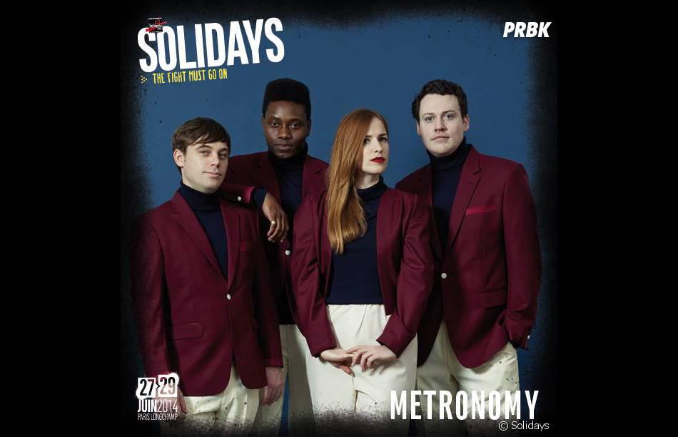 Metronomy à l'affiche des Solidays 2014 les 27,28 et 29 juin 2014 à l'Hippodrome de Longchamp