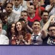 Cristiano Ronaldo et Irina Shayk en couple pour assister à un match de basketball à Madrid