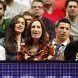 Cristiano Ronaldo et Irina Shayk à Madrid pour assister à un match de basketball ce jeudi 20 mars