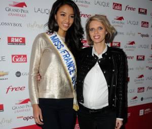 Sylvie Tellier félicitée par la Miss France 2014 Flora Coquerel sur Twitter