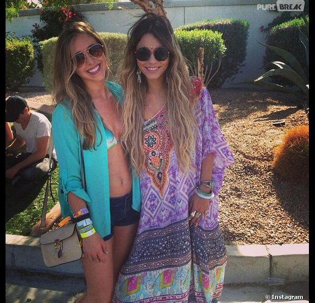 Vanessa Hudgens en blonde au 2e jour du festival de Coachella 2014, le 12 avril 2014