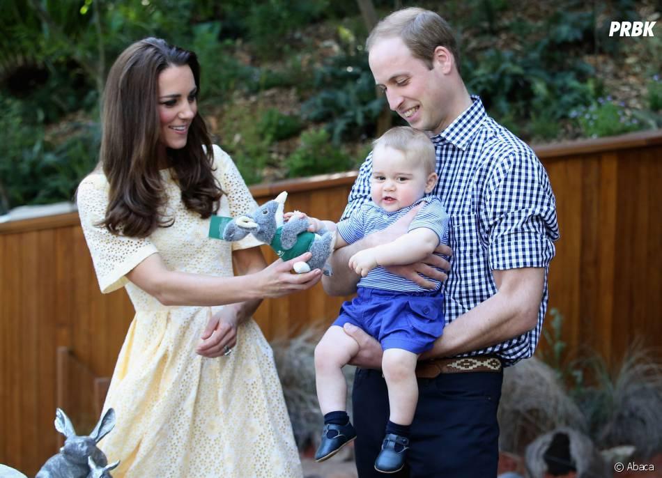Kate Middleton, le Prince William et leur fils George lors de leur tournée en Océanie en avril 2014