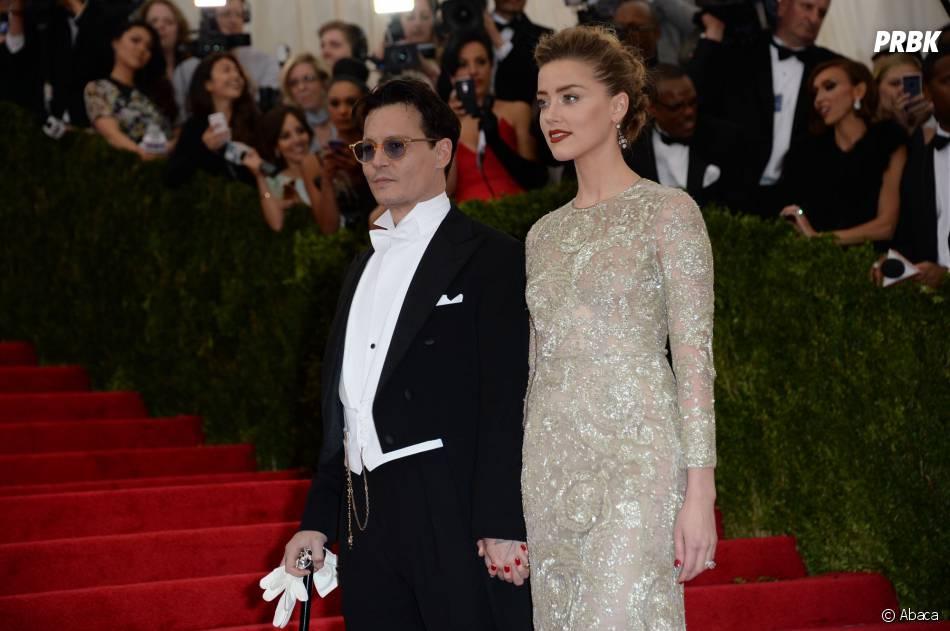 Johnny Depp et Amber Heard au MET Gala à New York le 5 mai 2014
