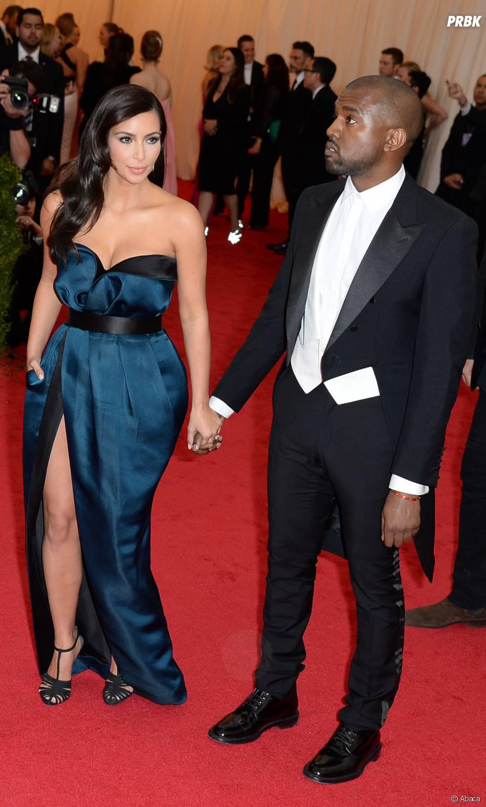 Kim Kardashian et Kanye West au MET Gala à New York le 5 mai 2014