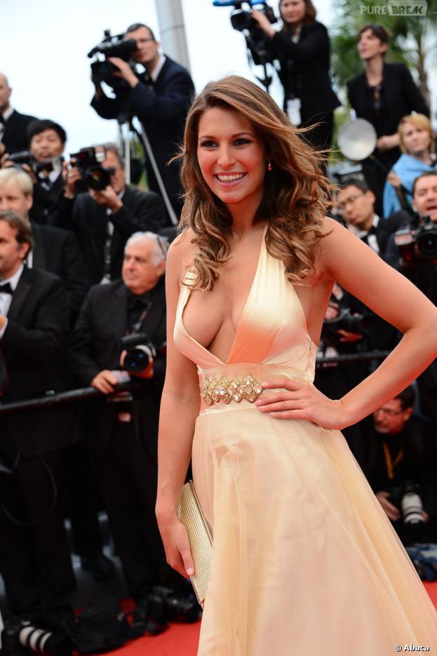 Laury Thilleman ultra décolletée et sexy au Festival de Cannes 2013