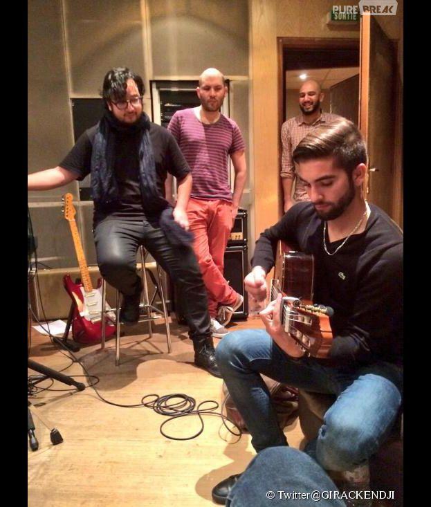 The Voice 3 : Kendji Girac déjà en studio pour bosser sur son album