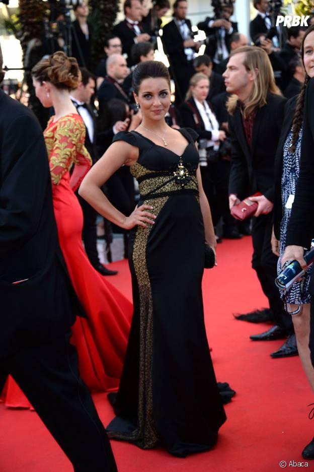 Priscilla Betti sexy sur le tapis rouge du Festival de Cannes, le 15 mai 2014