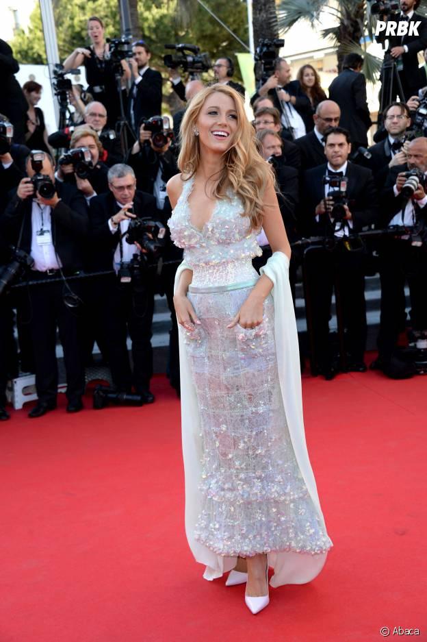Blake Lively resplendissante sur le tapis rouge du Festival de Cannes, le 15 mai 2014