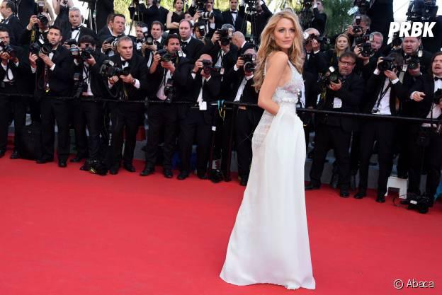 Blake Lively sexy sur le tapis rouge du Festival de Cannes, le 15 mai 2014
