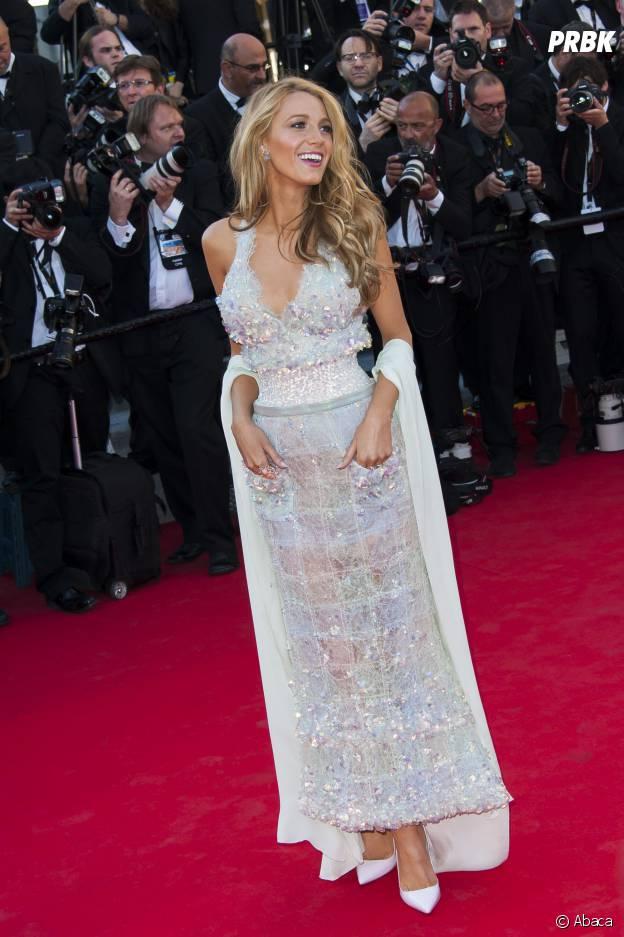 Blake Lively magnifique sur le tapis rouge du Festival de Cannes, le 15 mai 2014