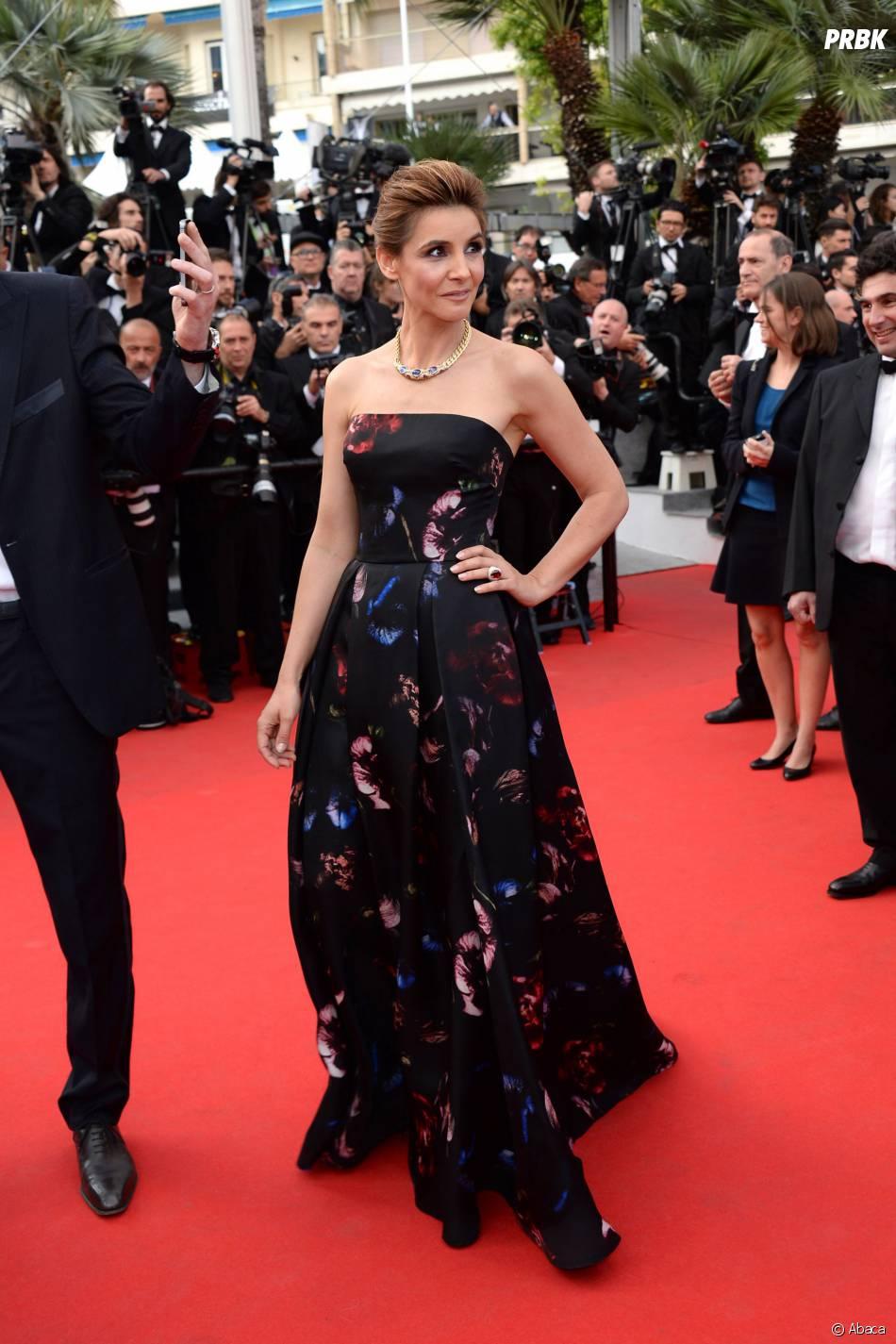 Clotilde Courau sur le tapis rouge du Festival de Cannes 2014, le vendredi 16 mai